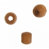 Wood Crowbeads 6X4.5mm Coffee Lacquered